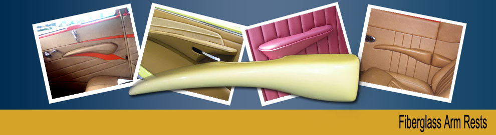 Several styles of fiberglass arm rests