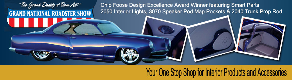 The Winner of the Chip Foose Design Excellence Award featuring many of Smart Parts interior products